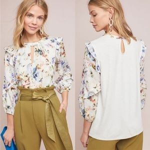 Anthropologie Floral Blouse NWT